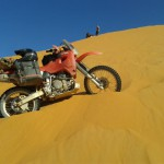 duna merzouga  marruecos moto trail