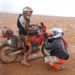 pintado de arena marruecos moto trail
