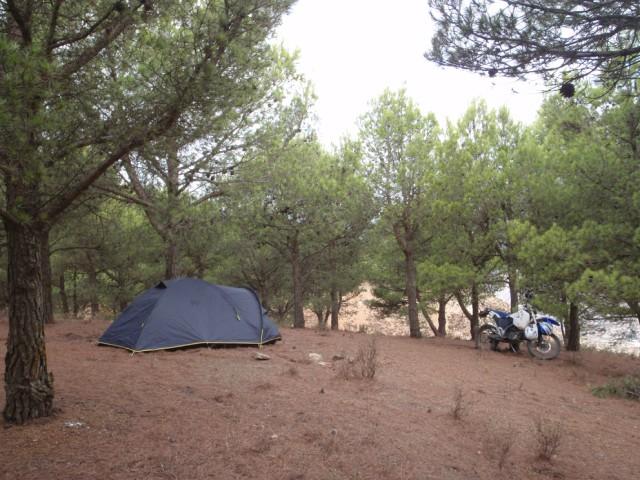 De acampada