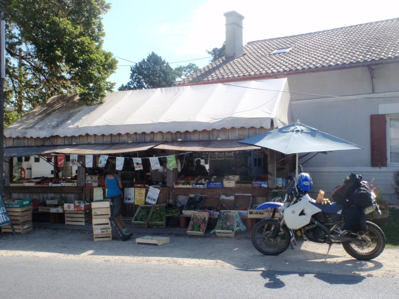 Comprando fruta en francia