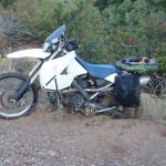 Una trampa de arena para la bmw trail