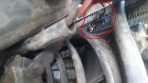 Daño producido en el radiador