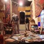 Tienda de alfombras en Fez