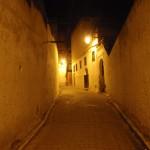 Calles de fez de noche
