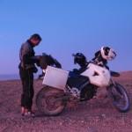 Preparando Nocturna en moto
