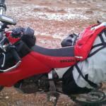 nieve desierto marruecos moto trail