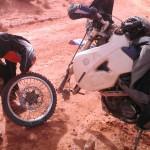 pinchazo marruecos moto trail