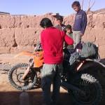 gasolina marruecos moto trail